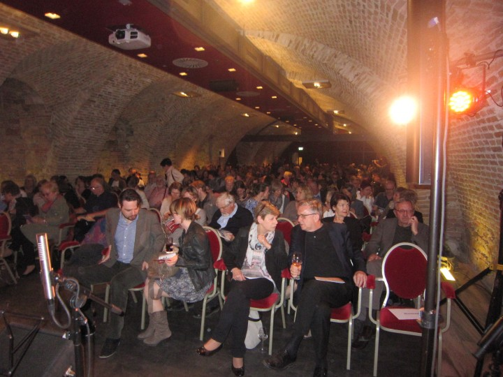 Audience waiting for the readings