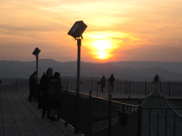 Sunset on the terrace of the monastery